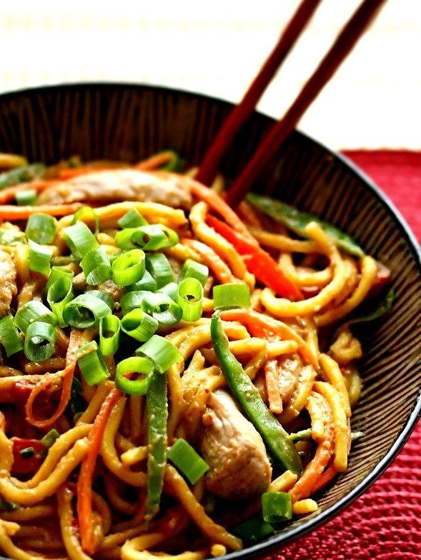 Recipe: Spicy Peanut Noodles with Pork