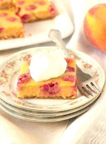 Recipe: Peach Melba Bars