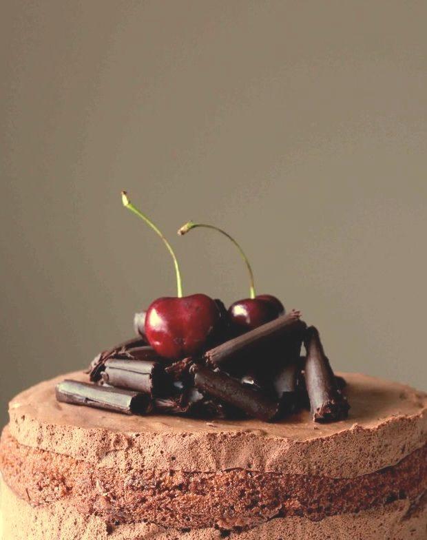 Cherry Chocolate Mousse Cake