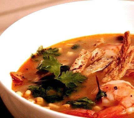 Shrimp and Tortiilla Soup