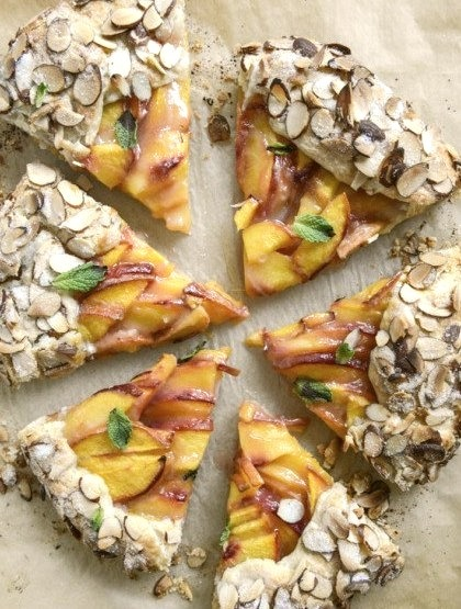 Ginger Peach Galette with Almond Crust How Sweet Eats