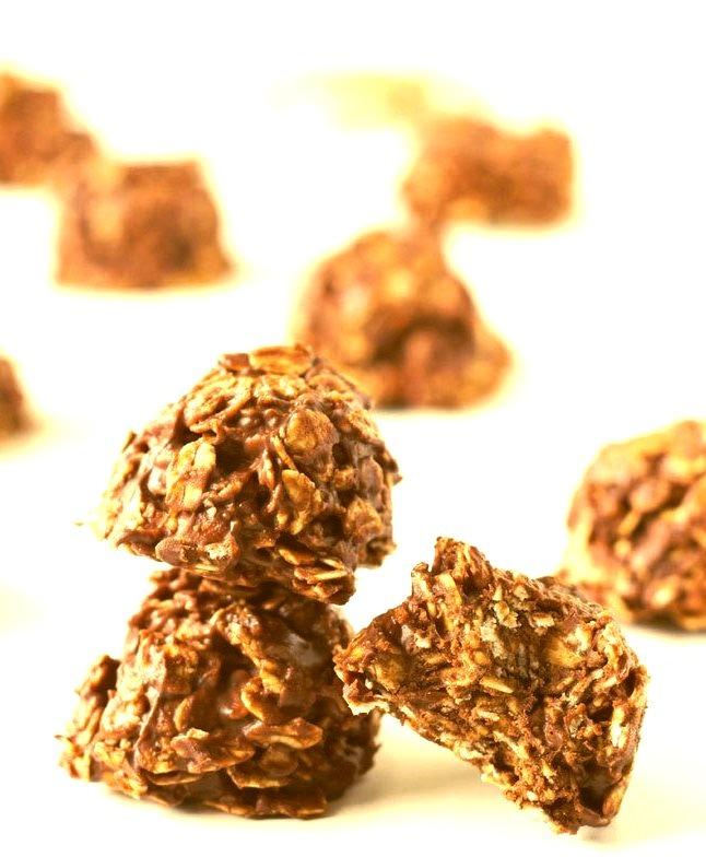 No Bake Healthier Chocolate Cookies