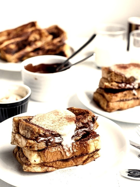 Cappuccino French Toast with Coffee Cream Cafe Delites