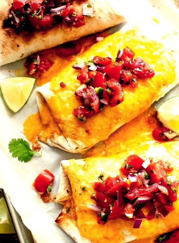 Slow Cooker Chicken and Pinto Bean Burritos